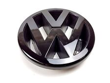 VW POLO 6N2 [1999-01] GLOSS BLACK FRONT GRILLE BADGE EMBLEM LOGO 125MM 3B0853601