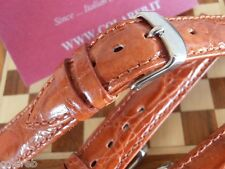 Cinturino marrone gold vero coccodrillo 18mm genuine crocodile watch strap band