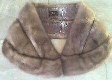 Vintage Bullock's Los Angeles 1950s Mink Fur Stole Shoulder Wrap Cape Bolero USA