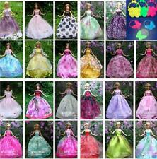 12pcs/lot Party Doll's Dress+bags Clothes Gown For Barbie doll