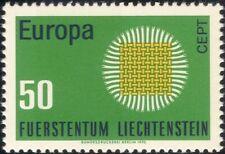 """Liechtenstein 1970 EUROPA/CEPT/comunicazioni/""""Flaming SUN """"design 1 V (ex1023)"""
