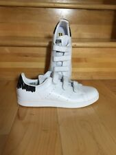 Adidas Stan Smith Rare Velcro Shoes White Black Womens Size 11 BY2975
