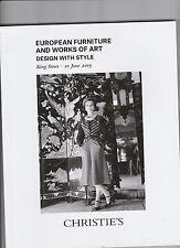 CATALOGUE DE VENTE CHRISTIE'S / EUROPEAN FURNITURE AND WORK OF ART