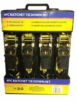 4 X 4.8 Metre Heavy Duty Ratchet Tie Down Cargo Straps1 Inch-15'/2.5MM 1500lbs