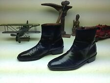 SANDRO MOSCOLONI BLACK  LEATHER ZIP UP HIPSTER BEATLE BOOTS 8.5 D