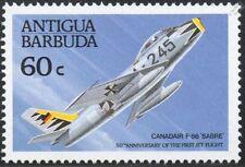 CANADAIR F-86 SABRE Jet / Sabrejet Aircraft Stamp (1989 ANTIGUA)