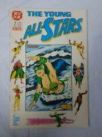 THE YOUNG ALL STARS #2 JULY 1987  DC COMIC BOOK