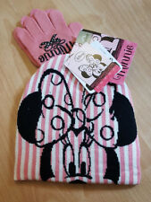 Disney Minnie Mouse Girls Multicoloured Winter Hat & Gloves Accessory Set - NEW!