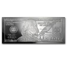 4 oz Silver Bar - 2013 $100 Bill (W/Box & COA) - SKU #73372