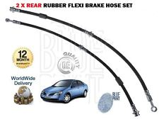 FOR NISSAN PRIMERA P12 2001-2006 LEFT + RIGHT 2x REAR RUBBER FLEXI BRAKE HOSE