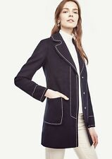 Ann Taylor - Woman's XXL (18) Navy Blue Contrast Stitch Coat $248.00