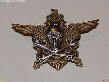 steampunk brooch badge skull & crossbones wings coat of arms pirate Black sails