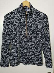 1 NWT MELLY M WOMEN'S PULLOVER, SIZE: SMALL, COLOR: BLACK/WHITE (J115)