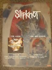 SLIPKNOT - Subliminal Verses & Vermilion - Single/Album Promotional Poster*RARE*