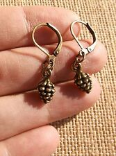 Petite Pinecone Bronze Leverback Earrings  Sundance Artisan Customizable