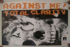 Against Me! Poster Total Clarity Promo Surfing The Skull Me