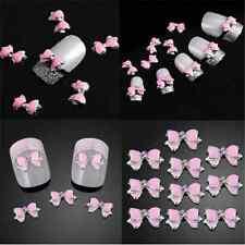 10pcs Charm 3d Rhinestone Bowknot Stickers Nail Art Sticker DIY Decoration Tr84