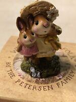 "Wee Forest Folk Retired 2011 "" Miss Daisy ""  Figurine M-182, Pristine, New"