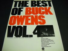 BUCK OWENS 1971 Promo Poster Ad BEST OF BUCK OWENS Volune 4 - mint condition
