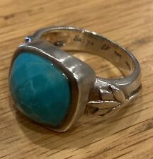 SATYA - Sterling silver - Turquoise Stone Ring - Size 7 - BNWOT