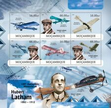 HUBERT LATHAM French Aviation Pioneer / Antoinette Aircraft Stamp Sheet 1 (2012)