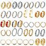 Fashion Design Stainless Steel Gold/Silver Women Drop Hoop Stud Earrings Jewelry
