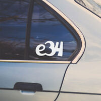 BMW e34 car sticker (vinyl decal for 3 series window or body)