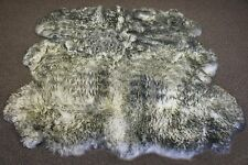 New Genuine Real Sheepskin Rug Sexto Shape Rug -  6' X 6'  TWILIGHT GREY