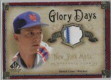 2005 Upper Deck Sp baseball David Cone game worn jersey insert card -Ex