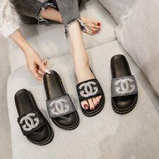 Rhinestone Comfort Slide Slippers Platform Shiny Sandals Beach Hot Women Shoes