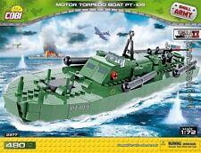 COBI PT 109 / 2377 / 480  blocks WWII  torpedo ship Small Army US Army boat