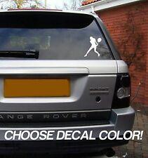 "Tennis Girl 4"" Vinyl Sticker Decal - Choose Color! bumper car window player ball"