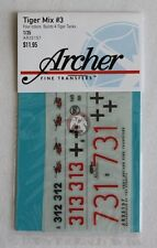 Archer 1/35 German Tiger I & II Tank Markings WWII Mix No.3 (4 tanks) AR35157