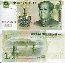 PRC China Chinese 1999 1 One Yuan Mao Zedong Tse-Tung Communist Banknote UNC
