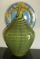 "Murano Art Glass Large Vase Signed by Artist Alberto Dona 17"" High"