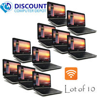 "Lot of 10 Dell 14.1"" Laptop Computers i5 8GB 120GB SSD DVD Wifi Windows 10 Pro"