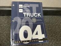 2004 Chevy Colorado GMC Canyon Pickup Body Shop Service Repair Manual SLE SE LS
