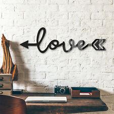 Acrylbuchstaben  Love Arrow DEKOELEMENT Wohnaccessoires Wanddeko schwarz