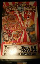 "Ringling Bros.Barnum & Bailey CircusPromo Poster14""x22""International Ampitheatre"
