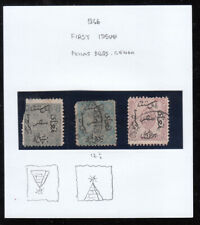 EGYPT  1866 FIRST ISSUE 3 STAMPS