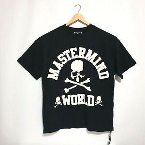 Mastermind World Top Sz S Black White Big Front Back Logo Japan Street Wear Tee