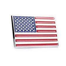 "USA Flag 3D Chrome Auto Emblem – (2.75"" x 1.5"") - Decal For Cars Trucks SUVs"