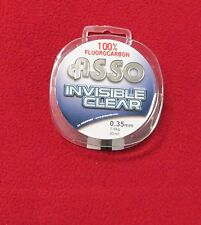 fluorocarbon pur asso invisible clear 0.35mm-7.8 kgs
