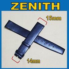 15 mm Zenith vintage strap Black without buckle. Cinturino originale anni 70