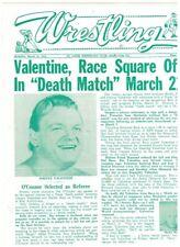 Race Valentine Iron Sheik 1975 Wrestling program WWWF NWA AWA Studd Funk Andre