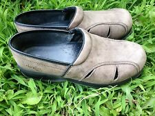 Dansko Professional Womens Sz 38 / 8 Brown Leather Clogs