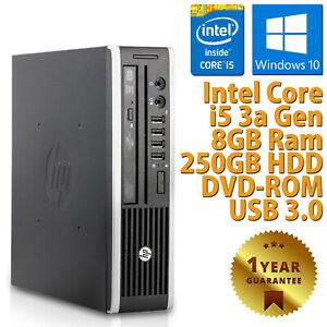 PC MINI COMPUTER DESKTOP RICONDIZIONATO HP CORE i5 3a GEN 8GB HDD 250GB WIN 10