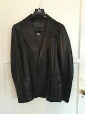 Costume National Black Leather Jacket