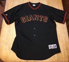 Mens Majestic San Francisco Giants Black & Orange #36 SEWN Jersey Large