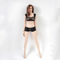 1/6 Female Lacy Underwear Clothes Suit Black Clothing for 12'' Phicen figure Toy